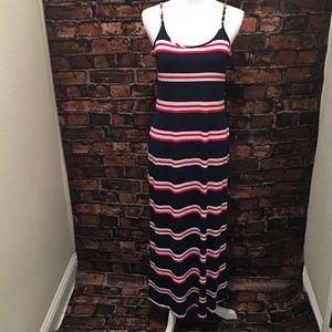Nautical Gold Chain Strap Maxi Dress size 4